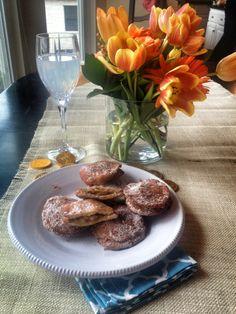Apple Pie Doughnuts (Sufganiyot) for Thanksgivukkah