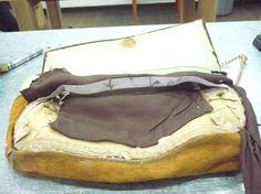 Restauración de forro Cartera vintage tipo clutch o sobre