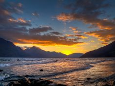 Golden Light of Lake Wakatipu    The last light at Lake Wakatipu as the sun drops behind the mountains.    Canon G12, ISO 100, f/5.6, AEB(-2, 0, +2) & Handheld.  www.lisangphotography.blogspot.com