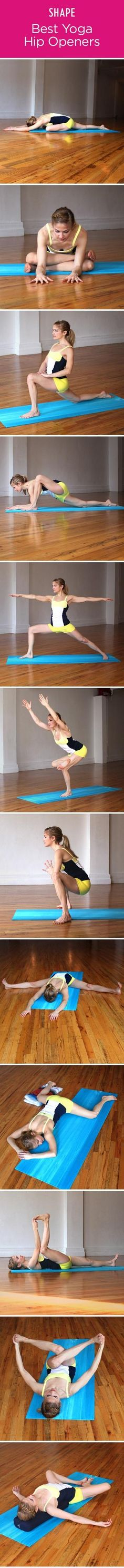 Great yoga positions.  We hold stress in our hips and these positions help let that stress go.