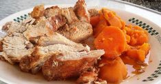 Easily prepared in a slow cooker, this tender pork loin roast with sweet potatoes is cooked in a buttery brown sugar mixture for ultimate flavor. Slow Cooker Pork Ribs, Crock Pot Slow Cooker, Crock Pot Cooking, Slow Cooker Chicken, Sweet Potato Recipes, Pork Recipes, Cooker Recipes, Crockpot Recipes, Recipies