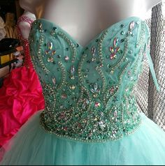 NWT Prom dress Size S. Comes with shawl. Color aqua Dresses Prom