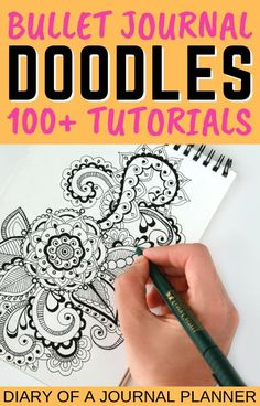 Make your bullet journal look incredible with these 100  doodle tutorials! #bulletjournaldoodles #doodles #howtodraw #doodleguides #doodling Easy Doodles Drawings, Easy Doodle Art, Cool Doodles, Simple Doodles, Doodle For Beginners, Bujo Doodles, Bullet Journal Printables, Doodle Art Journals, Flower Doodles