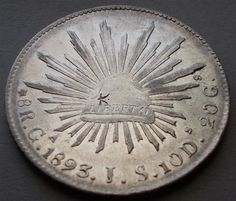 1893 Mexican 8 reales with a chop