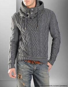 eye makeup - FASHION Pullover with Cable Knit Infinity Scarf Knit pullover Knit scarf Aran pullover Mens knit sweater Aran sweater Mens clothing Sharp Dressed Man, Well Dressed Men, Pull Aran, Sweater Fashion, Men Sweater, Sweater Cardigan, Aran Jumper, Hooded Sweater, Look Fashion