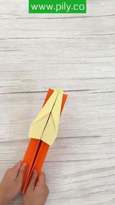 Paper Crafts Origami, Paper Crafts For Kids, Craft Activities For Kids, Diy For Kids, Fun Crafts, Boat Crafts, Instruções Origami, Ideias Diy, Diy Crafts Hacks