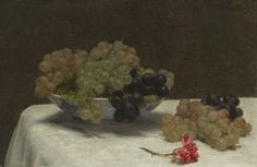 Henri Fantin-Latour – Baked Cheesecake with Sugared Grapes ...