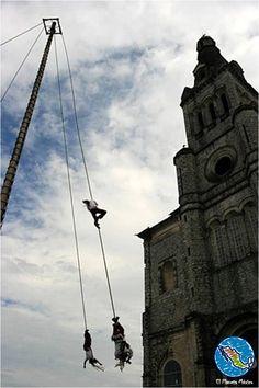 Los voladores en Cuetzalan.