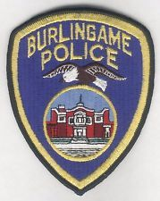 BURLINGAME CALIFORNIA POLICE PATCH