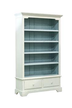 Painted Rustic Wooden Bookshelf on Chairish.com