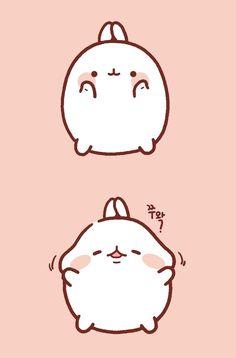 Molang the chub bunny! Kawaii Doodles, Cute Kawaii Drawings, Kawaii Art, Kawaii Wallpaper, Wallpaper Iphone Cute, Lines Wallpaper, Pikachu Pikachu, Cute Kawaii Animals, Molang