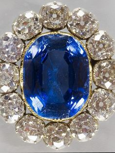 The Prince Albert Sapphire Brooch is among the wealthiest pieces in Queen Elizabeth's Collection. It was originally given to her by the Queen Mother, who in turn, was given it by Queen Victoria. #AntiqueJewelry #RoyalJewels