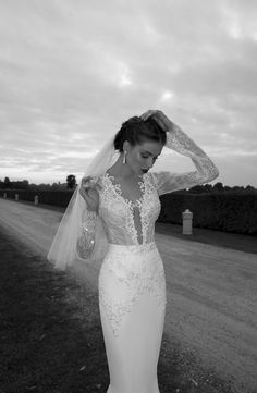 lace top wedding dress by @BERTA