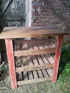 Vintage, Rustic Butchers Block / Storage Unit / Kitchen Island | eBay