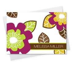 Fun Fall Flower Foldover Note Cards