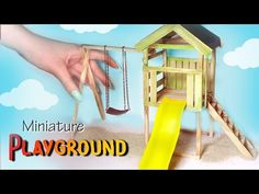 Miniature Camping; Tent & Campfire Tutorial // Dolls/Dollhouse - YouTube