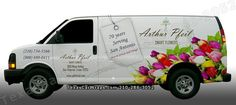 Eagle Ford Graphics and Signs - Helotes, TX, United States. San Antonio Texas vinyl vehicle wrap for Arthur Pfeil florists. Van wraps, logos, car wraps, truck wraps, trailers and graphics 210-286-3052