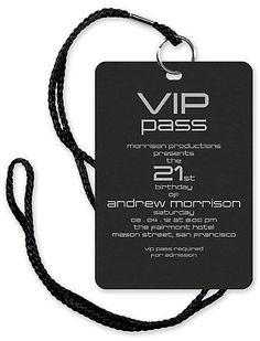 VIP Pass – Bar and Bat Mitzvah Invitation – Custom Wedding, Bar Mitzvah and Bat Mitzvah Invitations Vip Pass, Hollywood Party, 13th Birthday Parties, 16th Birthday, Birthday Ideas, Festa Rock Roll, Deco Cinema, Sweet 16 Invitations, 21 Birthday Invitations