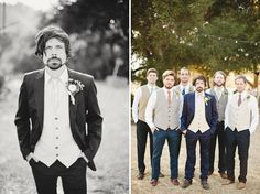 Groom and groomsmen with hands IN the pockets :)