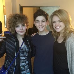 Camren Bicondova, David Mazouz and Erin Richards - GOTHAM