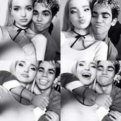Dove Cameron w/ Cameron Boyce Disney Channel Descendants, Disney Channel Stars, Disney Stars, Descendants Cast, Cameron Boyce Girlfriend, Cameron Boys, Cameron Boyce Parents, Cheyenne Jackson, Disney Decendants