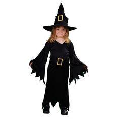 Las brujas son sin duda una de las categorías más amplias de nuestra página web. Como novedad para Halloween 2014 presentamos este sencillo pero elegante modelo de bruja niña para edades entre los 3 y los 12 años. #disfraces #halloween