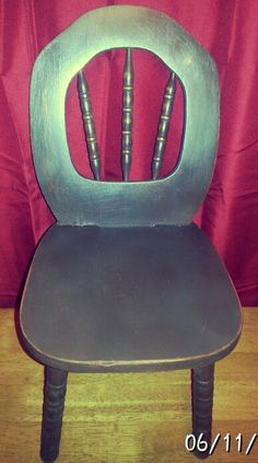 Chalk paint and distressed chair
