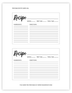 Discover recipes, home ideas, style inspiration and other ideas to try. Recipe Book Templates, Printable Recipe Cards, Recipe Printables, Homemade Recipe Books, Diy Recipe Book, Recipe Box, Planning Budget, Menu Planning, Free Printables