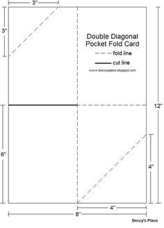 Beccy's Place: Tutorial: Diagonal Double Pocket Card