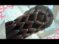Hair tutorial - PERFECT hairstyle for young parents. Only with BRIGHT elastics, you can make a hair transformation in 5 minutes. Cool Hairstyles For Girls, Back To School Hairstyles, Top Hairstyles, Pretty Hairstyles, Amazing Hairstyles, Youtube Hair Tutorials, Makeup Tutorial For Beginners, Hairstyle Tutorials, Medium Hair Styles