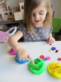 playdough rainbows counting, sorting , matching