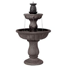 This gorgeous fountain creates a wonderful focal point for courtyards, gardens and more.