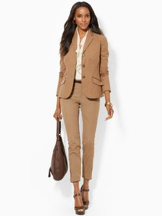 Stretch Houndstooth Jacket - Lauren Jackets - RalphLauren.com