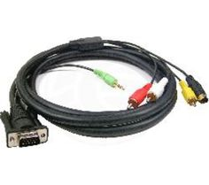 Cablematic Databay Vga Para Av Cable Hd15 M Para 3xrca M Md4 M De 1 8 M Do Monitor