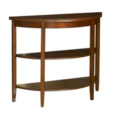 Shelburne Cherry Demilune Console Table with 2 Shelves PWL-998-225