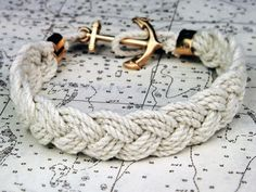 Nautical rope bracelet
