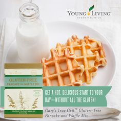 Gary's True Grit Gluten-Free Pancake and Waffle Mix is a great alternative to your favorite breakfast meal. The gluten-free pancakes include a delicious combination of ancient grain and bean flours. Joy Essential Oil, Cinnamon Bark Essential Oil, Cooking With Essential Oils, Gluten Free Pancakes, Pancakes And Waffles, Young Living Oils, Young Living Essential Oils, Gf Recipes, Flour Recipes