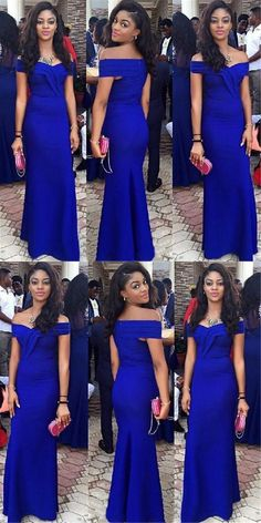 Royal Blue Off The Shoulder Mermaid Prom Dress,Elegant Floor Length Evening Gowns Black And White Prom Dresses, Royal Blue Prom Dresses, Blue Evening Dresses, Evening Gowns, Camo Prom Dresses, Prom Dresses 2018, Dress Prom, Dress Long, Blue Mermaid Prom Dress