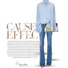 A fashion look from February 2016 by idocoffee featuring Victoria, Victoria Beckham, Frame Denim, Dolce&Gabbana, Envi e Love Always