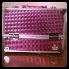 Pink Caboodle! Metallic pink caboodle make up box! NEW NEW NEW and never used. Includes the keys to lock as well Caboodle Bags Cosmetic Bags & Cases