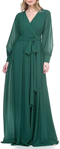 Amazon.com : ricarica chiffon maxi dress Chiffon Maxi Dress, Bridesmaid Dresses, Wedding Dresses, Your Photos, Photo Shoot, What To Wear, Dresses With Sleeves, Amazon, Long Sleeve