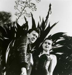 David Lynch and Isabella Rossellini, 1988. Silver gelatin  by Helmut Newton