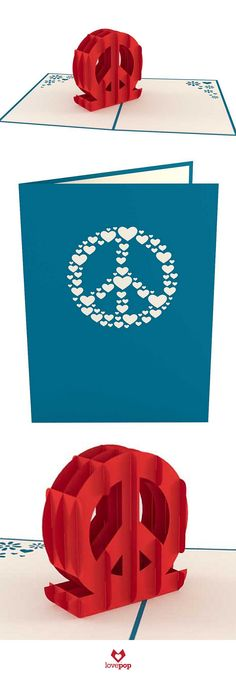 Send some peace with the Peace Sign pop up card designed by a high school entrepreneur student at The Possible Project. Spread the love with peaceful pop up paper art. #peace