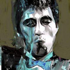 Leonardo Hidalgo Art Gallery shared by Retina Cigar Art, Cigars And Whiskey, Al Pacino, Color Splash, Iron Man, Pop Art, Art Gallery, Joker, Painting