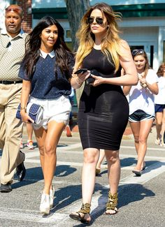 Kourtney Kardashian and Khloe Kardashian touch down in Southampton to film latest spin-off