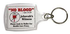 No Blood Key Chain