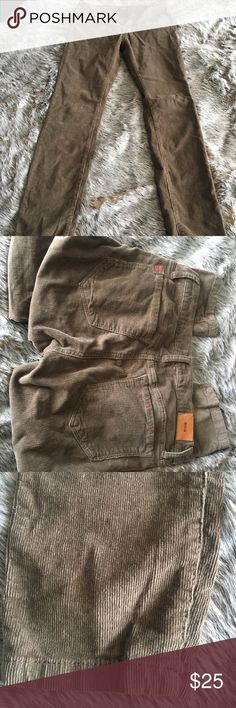 Anthropologie corduroy pants. Women's Anthropologie brown pants. Only worn once. Size 26 Anthropologie Jeans Skinny