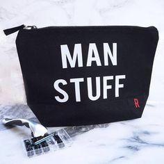 Man Stuff Wash Bag - Mens Travel Bag - Fathers Day Gift - Grooming - Travel  Toiletries Bag - Gift For Him - Gift For Dad - Wash Bag 336eedc634b48