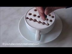 Creative Latte Art For Beginners | Tutorial 10 - YouTube