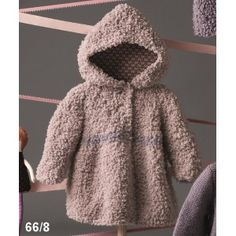 New Little Princess Coat For Knitting Blogs, Baby Knitting, Crochet Baby, Baby Pullover, Fluffy Coat, Baby Coat, Chunky Wool, Kids Coats, Sweater Making